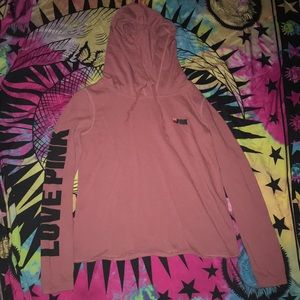 PINK hooded sweater top S